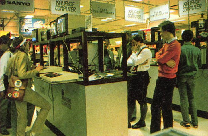 80'er kaufhof home computer afdeling
