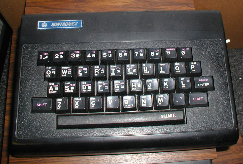 Sinclair ZX81 Sunctronics keyboard Kit